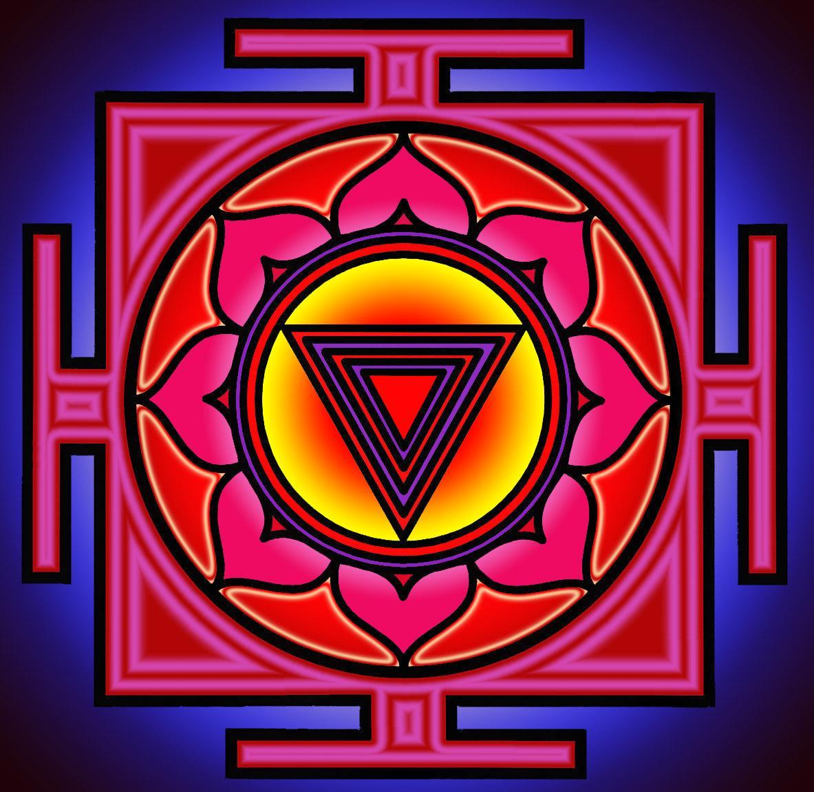 Kali yantra color - Une méditation sur Kali