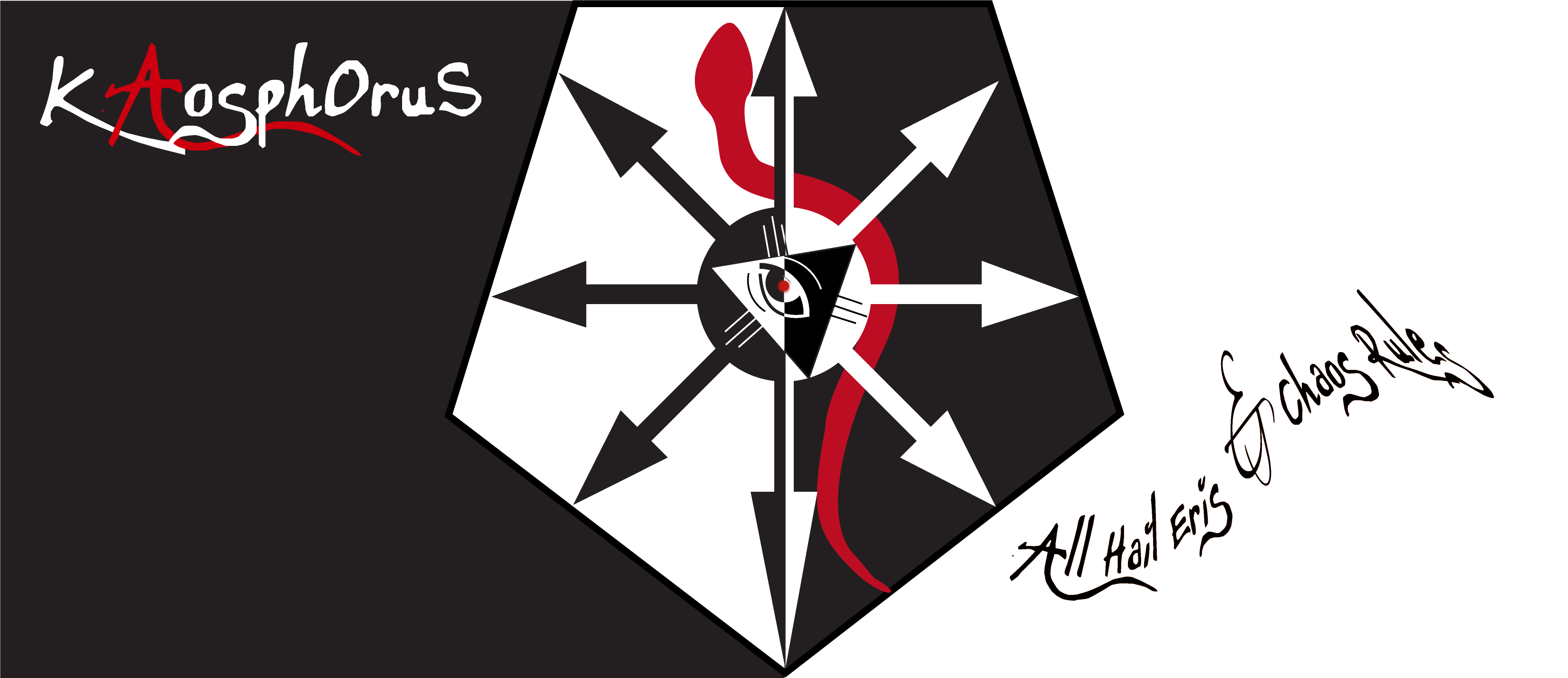 kaosphorus flag black white - La Magie du Chaos : Piraterie Occulte et Vieilles Dentelles
