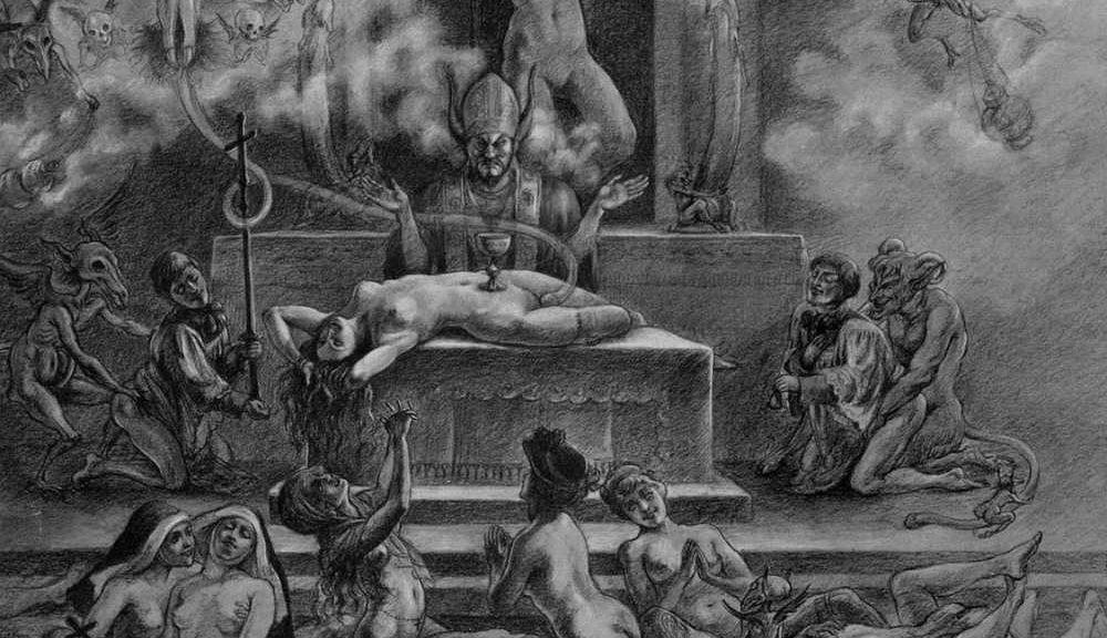 Messe noire Felicien Rops 1000x576 - Une lecture tantrique de l'œuvre de Spare