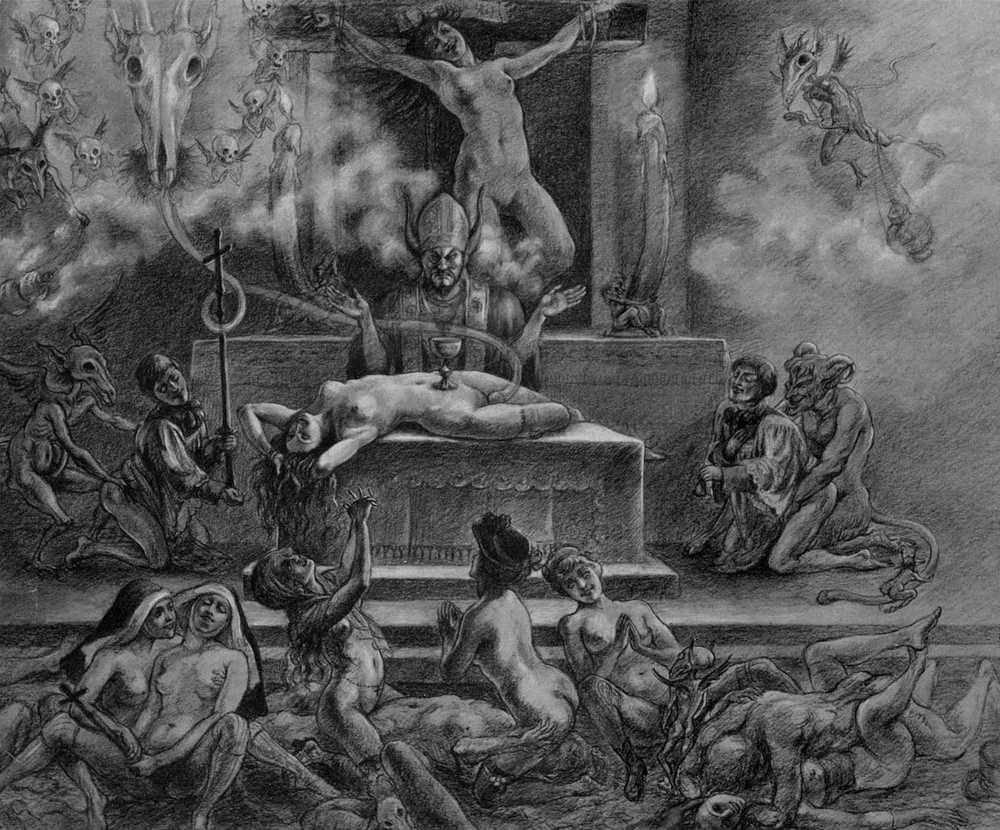 Messe noire Felicien Rops - Une lecture tantrique de l'œuvre de Spare