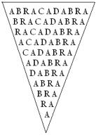 Abrahadabra2 04 - Les noms Magiques Abraxas, Abracadabra et Abrahadabra