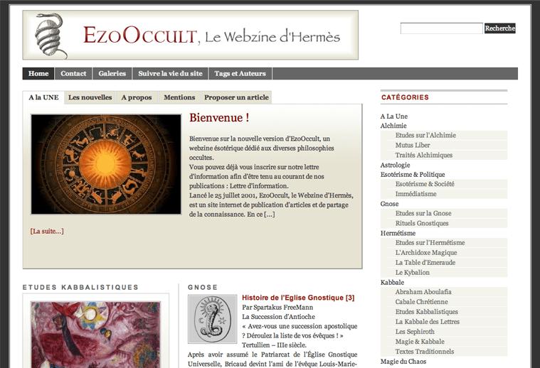Le site EzoOccult se relooke !