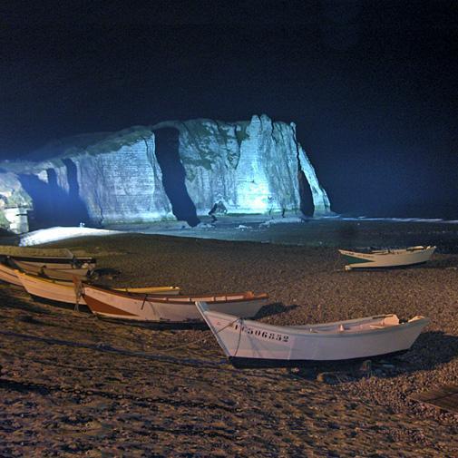 etretat falaises nuit - Encore une nuit gnostique...