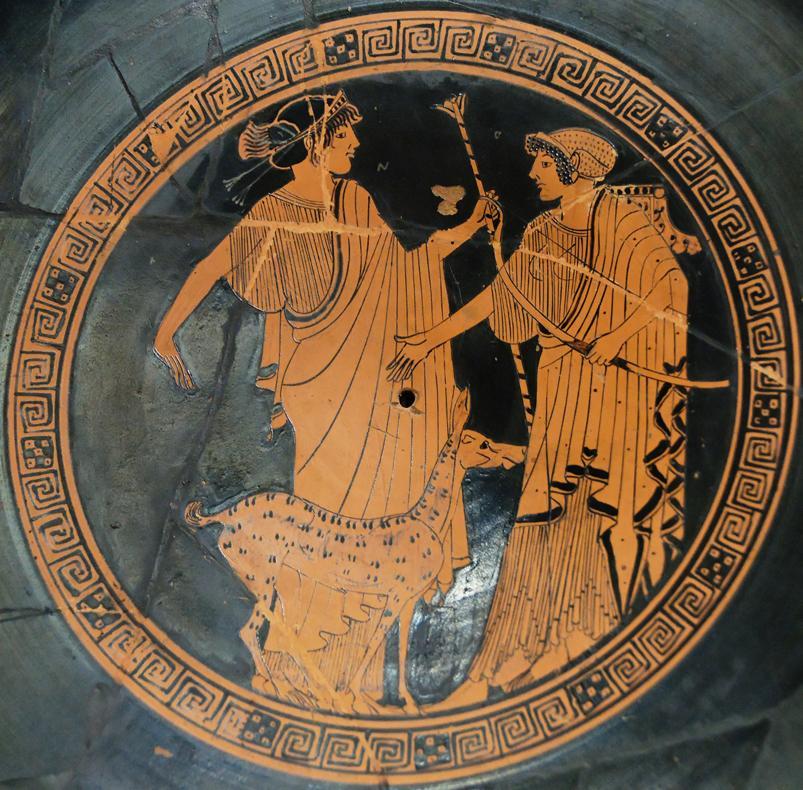 Apollo Artemis Brygos Louvre G151 - Invocation d'Artémis