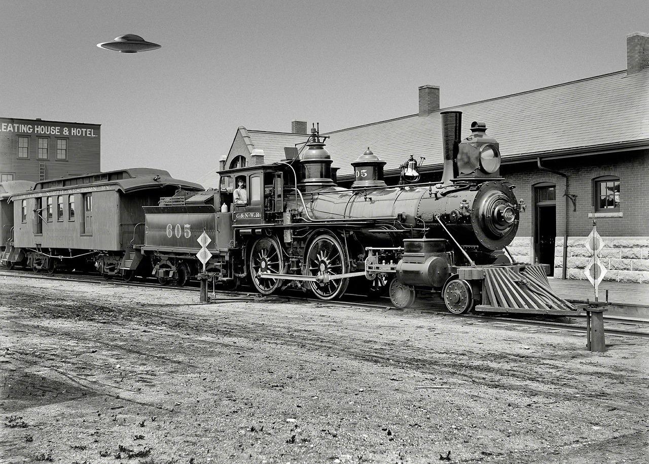 steam locomotive 502111 1280 - Des OVNIS et des complots